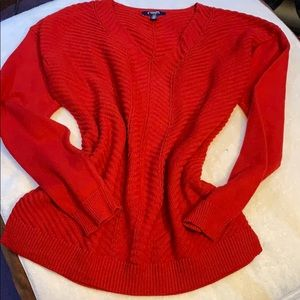 BEAUTIFUL VIBRANT RED CHAPS SWEATER